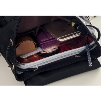 Gambar Produk Martin Versa Tas TR7 Backpack Ransel Wanita Kanvas Nylon Ungu Lengkap .