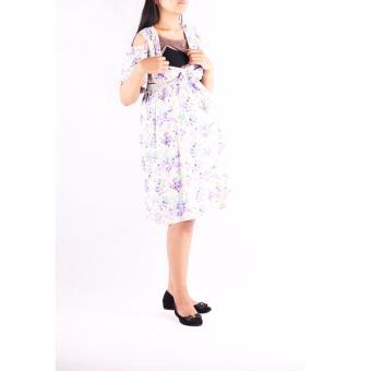 Hmill Baju Hamil Dress Hamil Menyusui 1235 Cream Daftar Harga Source Gambar HMILL Baju Hamil Dress