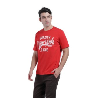 Harga Carvil Tesco Men's T-shirt - Merah