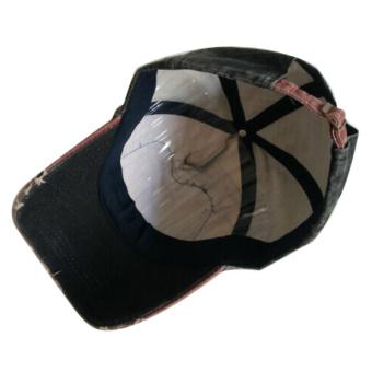 Katun Unisex topi Baseball Cap motor tepi penggilingan yang dapat topi bisbol biru tua - International ...