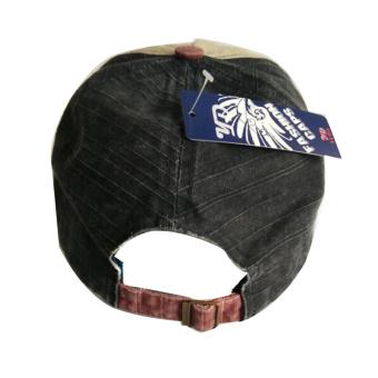 ... Katun Unisex topi Baseball Cap motor tepi penggilingan yang dapat topi bisbol biru tua - International ...