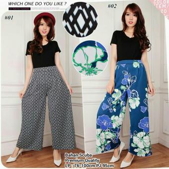 Harga Terbaru 168 collection Celana Kulot BubleFlow Long Pant-Hitam