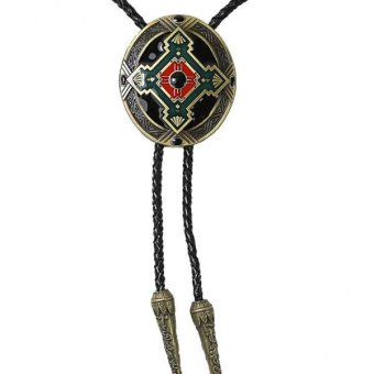 Harga MagiDeal Fashion Indian Totem Western Cowboy Rodeo Bolo Tie Tie Bola Pendant Necklace - intl