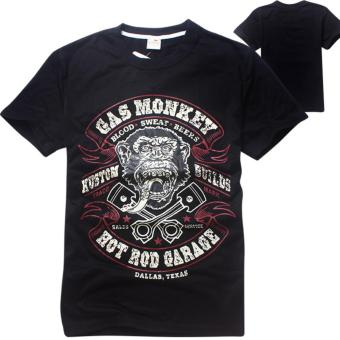 Harga 'Kisnow Men'' Gas Monkey Garage Cotton T-shirts(Color:Black) - intl'