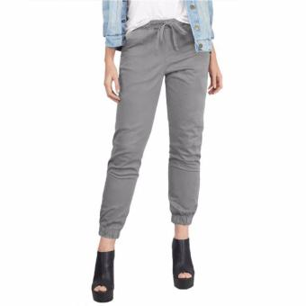 Harga plus size jogger light grey