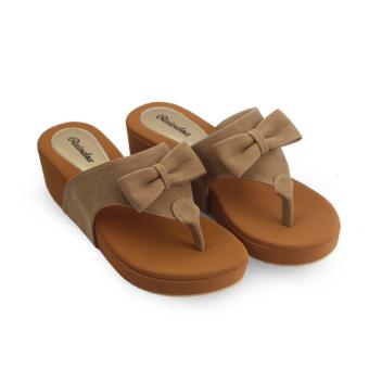 Raindoz Women Sandals Wedges Light Tan - 3 .