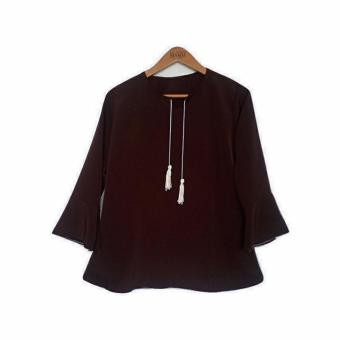 Harga Bratajaya Blouse Ranie Dark Brown