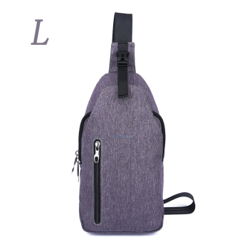 Harga Tigernu Brand Size L Waterproof Oxford Fabric Sling Phone Crossbody BagT-B8027L(dark grey) - intl
