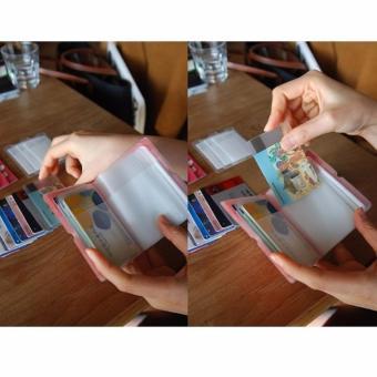 Dompet Kartu Simple 32 Slot Korean Card Wallet Hijau 3 .