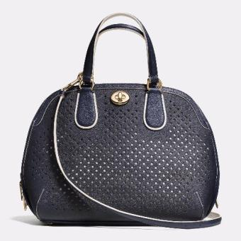 Harga Coach Prince Street Satchel In Perforated Leather handbag - Navy