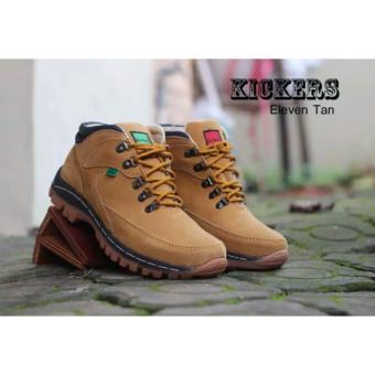Harga Sepatu Kickers Boots Safety Eleven Tan