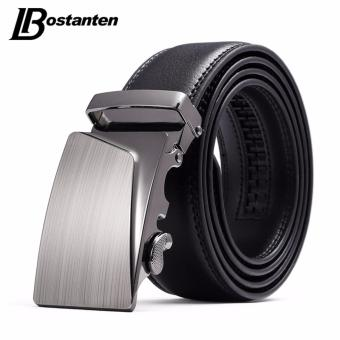 Bostanten Men's Genuine Cow Leather Belts Black With A Gift Box - intl ...