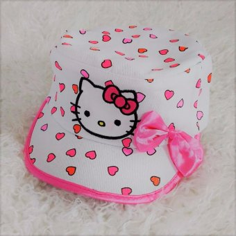 Hello Kitty Hat White Heart