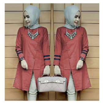 Harga Suki Blouse Bolly Top - Maroon