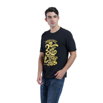 Harga Carvil Tesco Men's T-shirt - Hitam