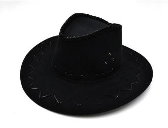 Harga Halloween Style Western Cowboy Hat for Adult Men Women Party Costumes Cap(Black) - intl