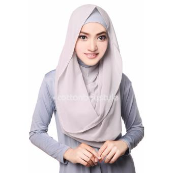 Harga Cotton Bee Hoodie Channel Instan - Including Inner - Abu-abu