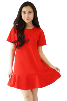 Harga QuincyLabel Flare Dress - Red