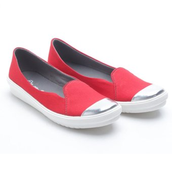 Harga Dr. Kevin Women Flat Shoes Slip On 43185 - Red