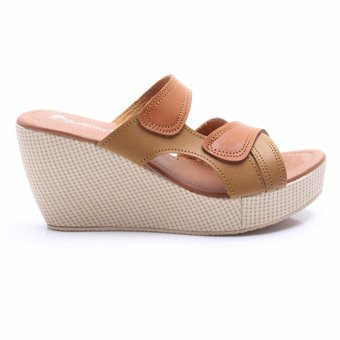 Dr Kevin Wedges Sandals Leather 27318 tan 2 .