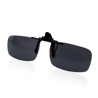 Polarized Driving Clip-On Flip-Up Lens Sunglasses Glasses Gray - intl