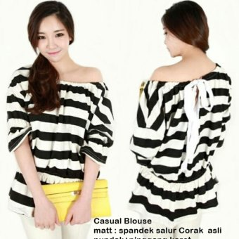 Harga MJ Blouse Casuals - Stripe