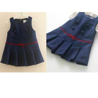 Harga MJ Dress Anak Jids Fancy Kids - Navy