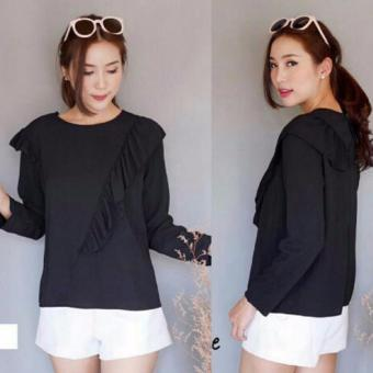 Harga Grateful Blouse Paris - Hitam