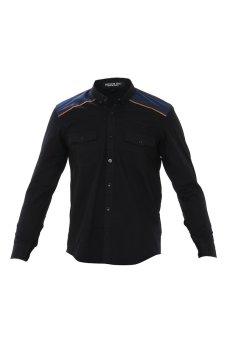 Denim Inc Jeremy 394 Long Sleeve Shirt Hitam Suede 5 .