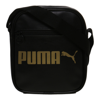 Harga Puma Campus Portable Sling Bag - Puma Black-Gold