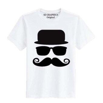 Sz Graphics/Mr White/T Shirt Pria Wanita/Kaos Pria Wanita/T