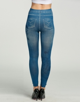 Toprank Denim Jeans Skinny Leggings Stretch Pants (Blue) - intl -