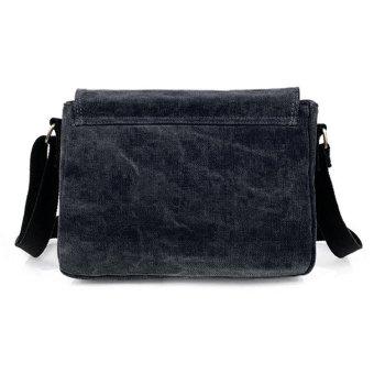 tas travel untuk pria tas kurir kanvas hitam 2 .