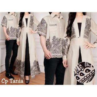 Harga Trend Baju - Couple Tania Uk L - Cream