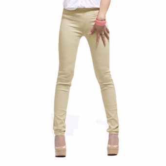 Harga Plus Size Casual Pants Cream