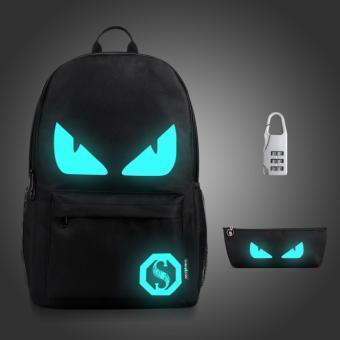 Glow In The Dark Backpack Luminous Drawstring Bag Boys Girls Giftdevil Intl - Daftar Harga Terbaru Indonesia