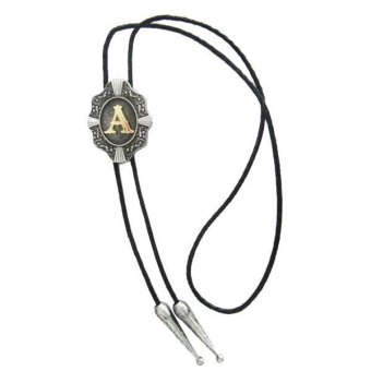 Harga MagiDeal Initial Letter A C D Western Cowboy Rodeo Bolo Tie man Ornaments Letter A - intl