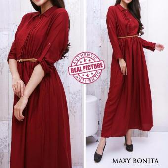 Harga Suki Dress Maxi Bonita - Maroon