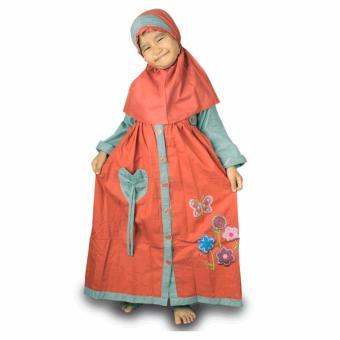 Baju Gamis Anak MTA225 - Merah Bata .