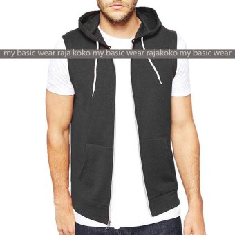Harga Fashion VEST with Zippper - Darkgrey