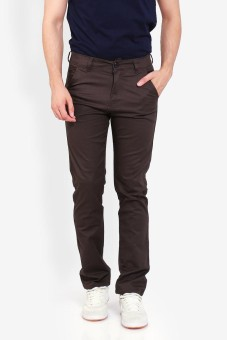 Harga Allends Basic dark coffe chinos