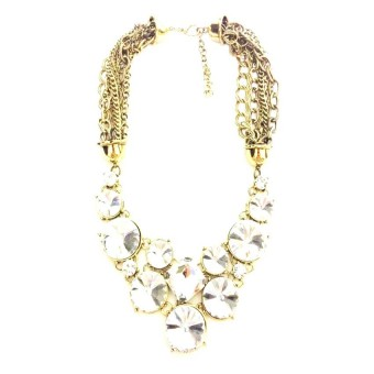 Istana Accessories Round Crystal Chain Fashion Necklace - Putih ...