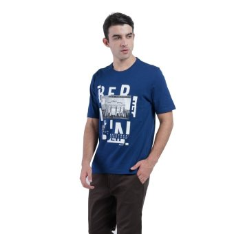 Harga Carvil Tesco Men's T-shirt - Biru