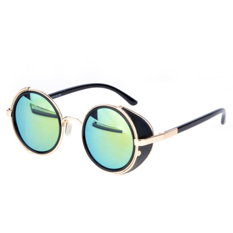 Harga Vintage Round Sunglasses (Light Blue)