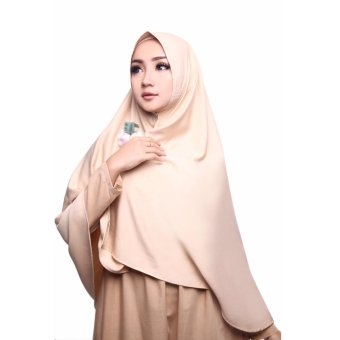 Harga Cotton Bee Khimar Lateefa - Cream