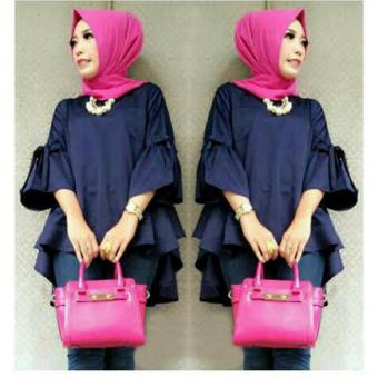 Harga Grateful Blouse Sheny - Navy