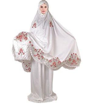 Java Seven STM 064 Mukena Wanita Satin Velvet Bagus (Putih), 323.600, Update