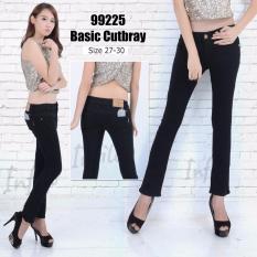 INFILO - Celana Jeans Wanita Cutbray – Hitam