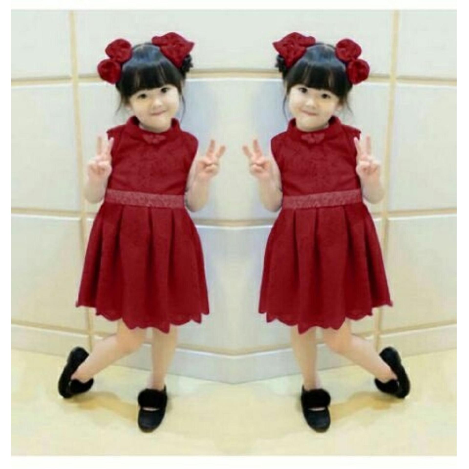 [INI SHOP] Dress Anak Gongli Brukat Lapis Furing