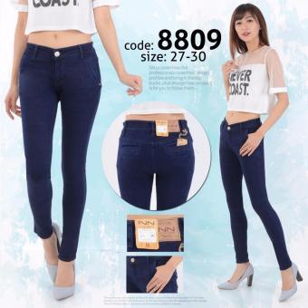 INN - Celana Jeans Wanita Berbahan Denim Kantong Bobox - Navy ...